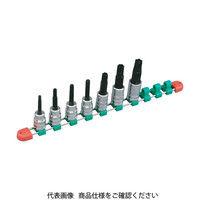 京都機械工具 KTC 12.7sq.ロングT型トルクスビットソケットセット[7コ組] TBT4L07T 1セット 307-8213 (直送品)