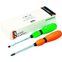 京都機械工具 KTC ギフト用ドライバセット[2本組] TD702 1セット 373-8531 (直送品)