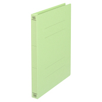 プラス フラットファイル厚とじ A4タテ 10冊 グリーン No.021NW 樹脂製とじ具