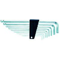 京都機械工具 KTC ハイグレードボールポイントL形ロング六角棒レンチセット[9本組] HLD2509 1セット 373-5249 (直送品)