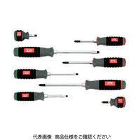 京都機械工具 KTC 樹脂柄ドライバセット貫通タイプ[8本組] TPMD18 1セット 373ー8850 (直送品)