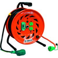 日動工業 電工ドラム びっくリール 100V アース漏電しゃ断器付 30m RND-EB30S 1台 125-5592 (直送品)