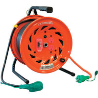 日動工業 日動 電工ドラム びっくリール 100V アース過負荷漏電しゃ断器付 30m RNDEK30S 1台 125ー5606 (直送品)