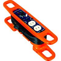 日動工業 日動 ハンドリール 電流コントロールリール 100V 2芯×3m 黒 HRC032 1台 368ー6124 (直送品)