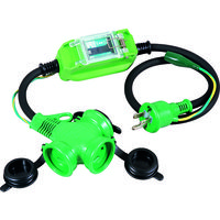 日動工業 防雨型ポッキン延長ブレーカ 100V 漏電しゃ断器付 1m PBW-EB-T 1個 327-2591 (直送品)