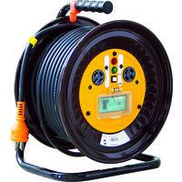 日動工業 日動 電工ドラム 三相200Vドラム アース漏電しゃ断器付 30m NDEB33020A 1台 125ー5835 (直送品)