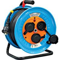 日動工業 日動 電工ドラム 防雨防塵型三相200V 3.5sq電線アース付 30m DNWE330F20A 1台 327ー2567 (直送品)