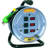 日動工業 日動 電工ドラム スイッチリール 100V アース付 10m SWE13 1台 209ー8911 (直送品)