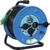日動工業 日動 電工ドラム 防雨防塵型100Vドラム アース漏電しゃ断器付 30m NPWEB33 1台 290ー2061 (直送品)