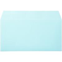 ムトウユニパック ナチュラルカラー封筒 長3横型 ブルー 1000枚(100枚×10パック)