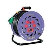 日動工業 日動 電工ドラム 標準型100Vドラム アース過負荷漏電しゃ断器付 30m NFEK34 1台 125ー5681 (直送品)