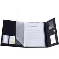合皮製書類保存ホルダー ブラック