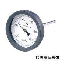 佐藤計量器製作所 バイメタル温度計 BM-T-100P (0/100℃、 L=150mm、 R(PT) 1/2) 1個 (直送品)