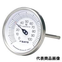 佐藤計量器製作所 バイメタル温度計 BM-T-90S (0〜100℃、L=150mm、 R(PT)1/2) 1本 (直送品)