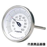 佐藤計量器製作所 バイメタル温度計 BM-T-90S (0〜200℃、L=100mm、 R(PT)1/2) 1本 (直送品)