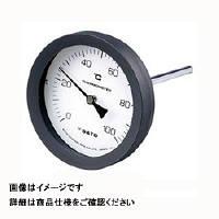 佐藤計量器製作所 バイメタル温度計 BM-T-100P (0/200℃、 L=100mm、 R(PT) 1/2) 1個 (直送品)