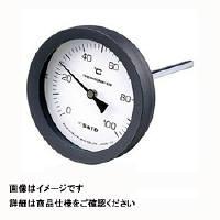 佐藤計量器製作所 バイメタル温度計 BM-T-100P (0/200℃、 L=150mm、 R(PT) 1/2) 1個 (直送品)