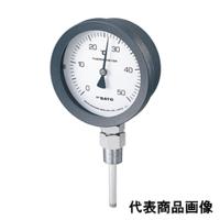 佐藤計量器製作所 バイメタル温度計 BM-S-100P (0/50℃、 L=100mm、 R(PT) 1/2) 1個 (直送品)