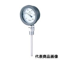 佐藤計量器製作所 バイメタル温度計 BM-S-75P (0/100℃、 L=150mm、 R(PT) 1/2) 1個 (直送品)