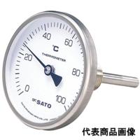 佐藤計量器製作所 バイメタル温度計 BM-T-75 (0〜100℃、L=150mm、 R(PT)1/2) 1個 (直送品)