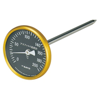 佐藤計量器製作所 アスファルト用温度計(小型)黒板 1個 (直送品)