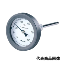 佐藤計量器製作所 バイメタル温度計 BM-T-75P (0/100℃、 L=50mm、 R(PT) 1/2) 1個 (直送品)