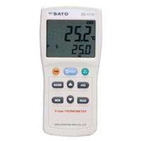 佐藤計量器製作所 大型液晶デジタル温度計 SK-1110 1チャンネルタイプ (指示計のみ) 1台 (直送品)