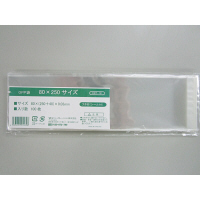 伊藤忠リーテイルリンク OPP袋(テープ付き) 80×250サイズ 横80×縦250+フタ40mm 透明封筒 1袋(100枚入)