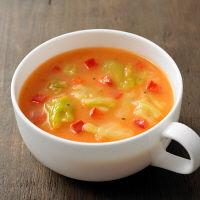 食べるスープ 蟹と彩り野菜のビスク