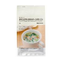 無印良品 食べるスープ きのことチキンのポルチーニポタージュ 02183059 良品計画 <化学調味料不使用>