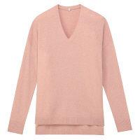無印良品 ヤクウールVネックセーター 婦人 S ピンク 良品計画