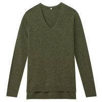 無印良品 ヤクウールVネックセーター 婦人 M カーキグリーン 良品計画