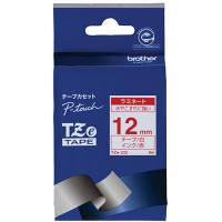 ブラザー ピータッチテープ 12mm ラミネート 白テープ (赤文字) 2個 TZe-232 (取寄品)