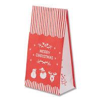 クリスマス柄 角底紙袋