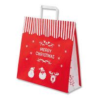 【クリスマス】手提げ紙袋 メリーオーナメント 3才 1袋(50枚入) シモジマ