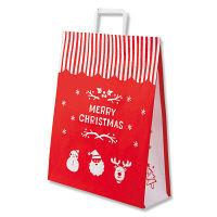 【クリスマス】手提げ紙袋 メリーオーナメント 2才 1袋(50枚入) シモジマ