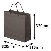 ナチュラルカラー手提袋 丸紐 こげ茶 M 1袋(5枚入) スーパーバッグ