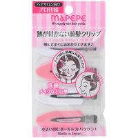 マペペ 跡が付かない前髪クリップ ピンク&ホワイト 1袋(4個入) シャンティ