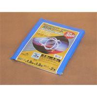 高木綱業 防水シート #3000 ブルー 1.8m×1.8m 27-6001 1セット(10枚)(直送品)