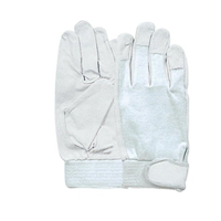 おたふく手袋 豚革クレスト 甲メリヤス マジック付(白) 3双組 LL 1セット(5組×3双入) (直送品)