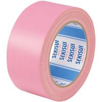 【ガムテープ】カラー布テープ No.600V 0.22mm厚 50mm×25m ピンク 積水化学工業 1箱(30巻入)