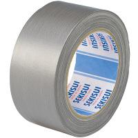 積水化学工業 カラー布テープ No.600V 0.22mm厚 幅50mm×長さ25m巻 銀 1箱(30巻入)