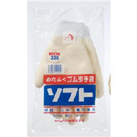 おたふく手袋 ゴム引手袋ソフト(白) 330 1セット(12双)(直送品)