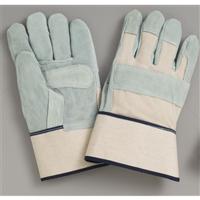 おたふく手袋 甲ハンプ床革手袋 白 1セット(12双入) (直送品)