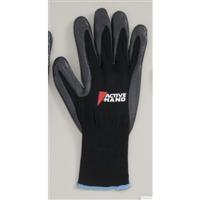 おたふく手袋 アクティブハンド ブラック LL 1セット(10双入) (直送品)
