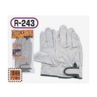 おたふく手袋 豚革クレスト 補強アテ皮付 マジック 3双組 M 1セット(5組×3双入) (直送品)