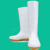 おたふく手袋 安全耐油長靴(鋼鉄芯入) 白 30.0cm 1足 (直送品)