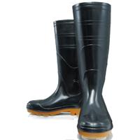 おたふく手袋 安全耐油長靴(鋼鉄芯入) 黒 24.0cm 1足 (直送品)