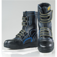 おたふく手袋 耐油 安全シューズ 静電半長靴 マジックテープ 26.5cm(4E) JW-773 1足(直送品)