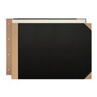 プラス とじ込表紙 A3ヨコ 307×430mm 4穴 FL-002TU 79219 1袋(5組入)